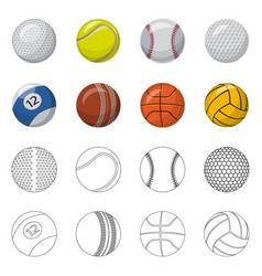 Sport and ball sign vector