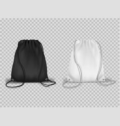 sport drawstring backpacks realistic set cinch vector image