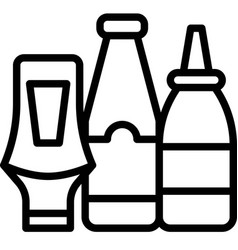 Squeeze bottle icon supermarket and shopping mall vector