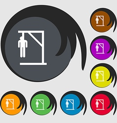 Suicide concept icon sign Symbols on eight colored vector