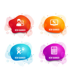 Teamwork monitor repair and flight sale icons vector