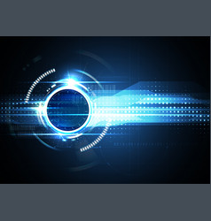 Technological future connection abstract vector
