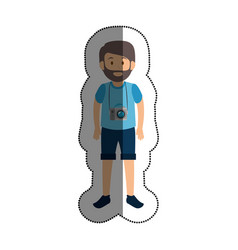 tourist man traveler avatar vector image