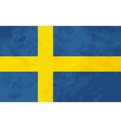 True proportions Sweden flag with texture vector image
