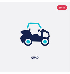 Two color quad icon from free time concept vector