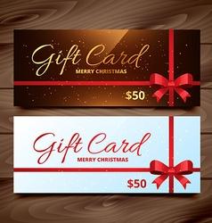 Two seasonal gift card vector