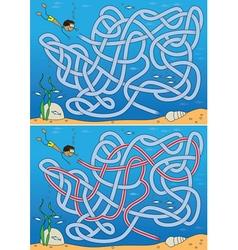 Undersea maze vector