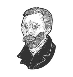 Vincent van gogh portrait sketch vector