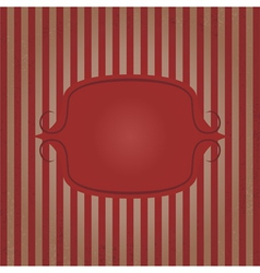 Vintage frame striped background vector image