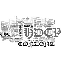 What is hdcp text word cloud concept vector