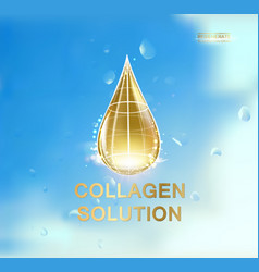 with oil drop vector image