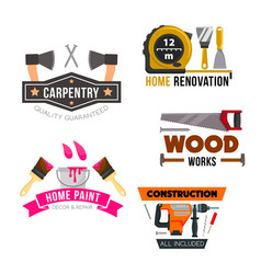 Work tool and hardware icons set vector