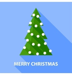 Background with christmas tree vector image vector image