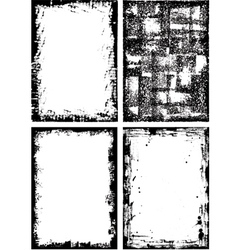 collection of high detail grunge frames and elemen vector image