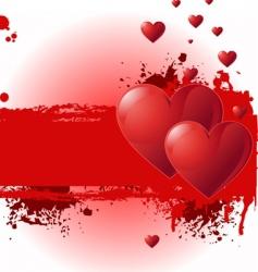 valentine grunge banner vector image vector image