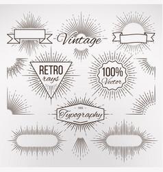 vintage burst shape decoration for typography vector image