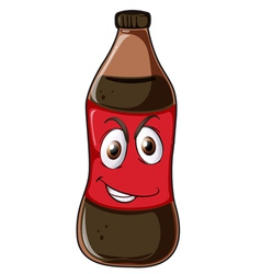 a bottle with face vector image vector image