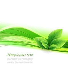 Abstract nature background vector image