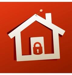 House lock icon vector image vector image