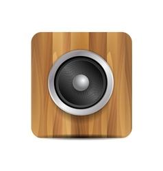 loudspeaker on wood vector image