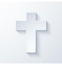 modern religious cross icon vector image vector image