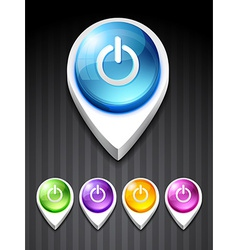 power icon vector image vector image
