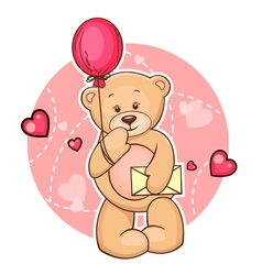 teddy bear with message vector image vector image