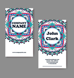 template business card geometric vector image