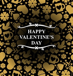 valentine day gold vector image