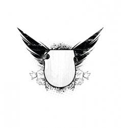 angel shield vector image vector image