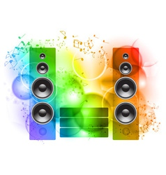 music abstract background with speakers vector image vector image