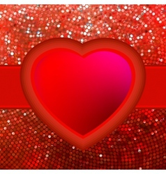 Abstract mosaic heart background EPS 8 vector image