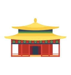 Beautiful asia travel temple vector image