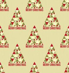Christmas seamless vintage pattern vector image