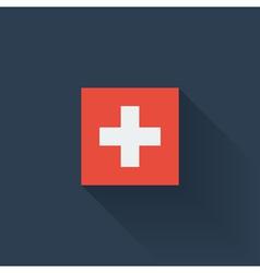 Flat flag of Switzerland vector image vector image