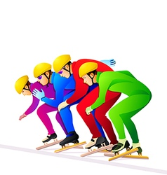 Ice-skaters vector image