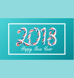 2018 happy new year 3d number sign in vector image