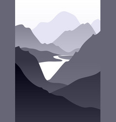 abstract monochrome landscape vector image