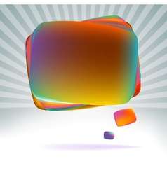 Abstract speech bubble EPS8 vector image