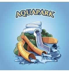 aquapark vector image