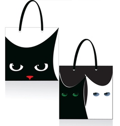 Bag cat vector