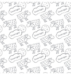 Black and white seamless pattern with images cute vector image