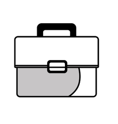 Business briefcase isolated flat icon vector image