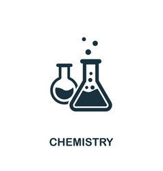 Chemistry icon symbol creative sign from vector
