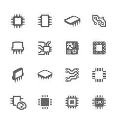 Chips and Microscheme Icons vector image