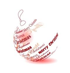 christmas ball made of merry christmas phrase vector image
