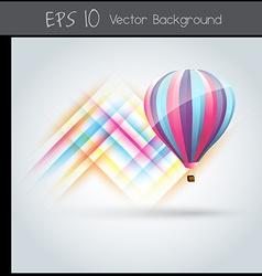 Colorful parachute vector