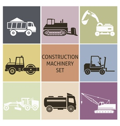 Construction machinery vector image vector image