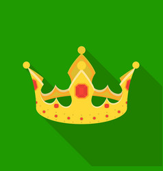 crown icon in flat style isolated on white vector image
