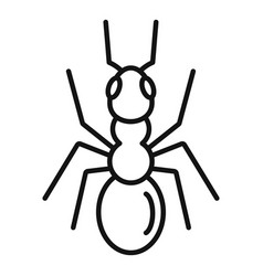 Cute ant icon outline style vector